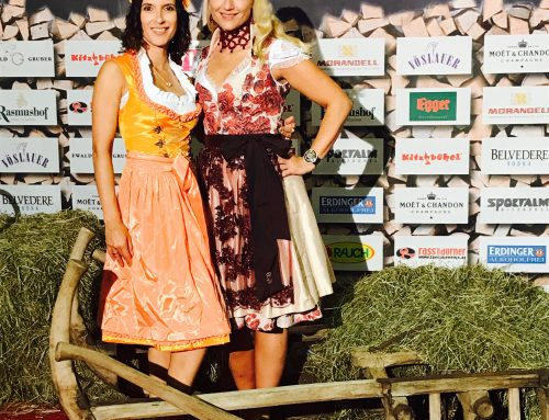 At the famous Alm Sommer Party Kitzbühel Austria with MAIBA