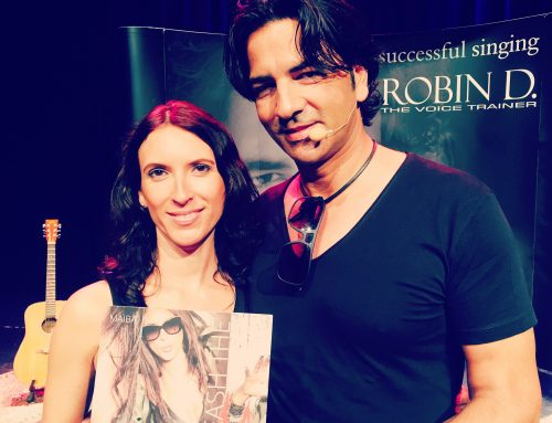 My Vocal Coach Robin D. presenting my Debut Album
